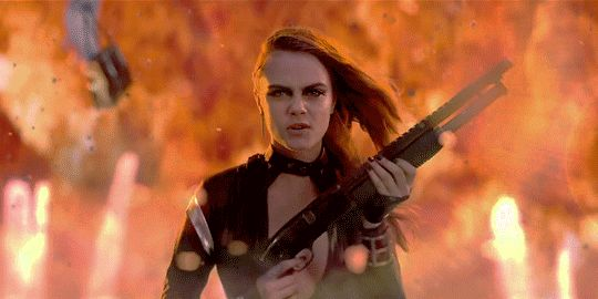 Cara Delevingne as Mother Chucker in Taylor Swift's song Bad Blood ft. Kendrick Lamar