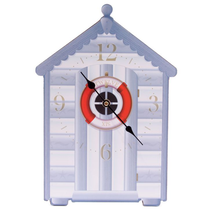 Fun Seaside Beach Hut Shaped Blue Wall Clock £14 + FREE P&P Each clock is made from MDF and has a standard plastic clock movement that requires 1 AA battery. All are wall mountable and come in a decorative but simple display box making them ideal gifts.  Dimensions: Height 35cm Width 24cm Depth 2.5cm  #htlmp #readytopost #hikerneeds #clocks #beach #hut #seaside #nautical #gifts