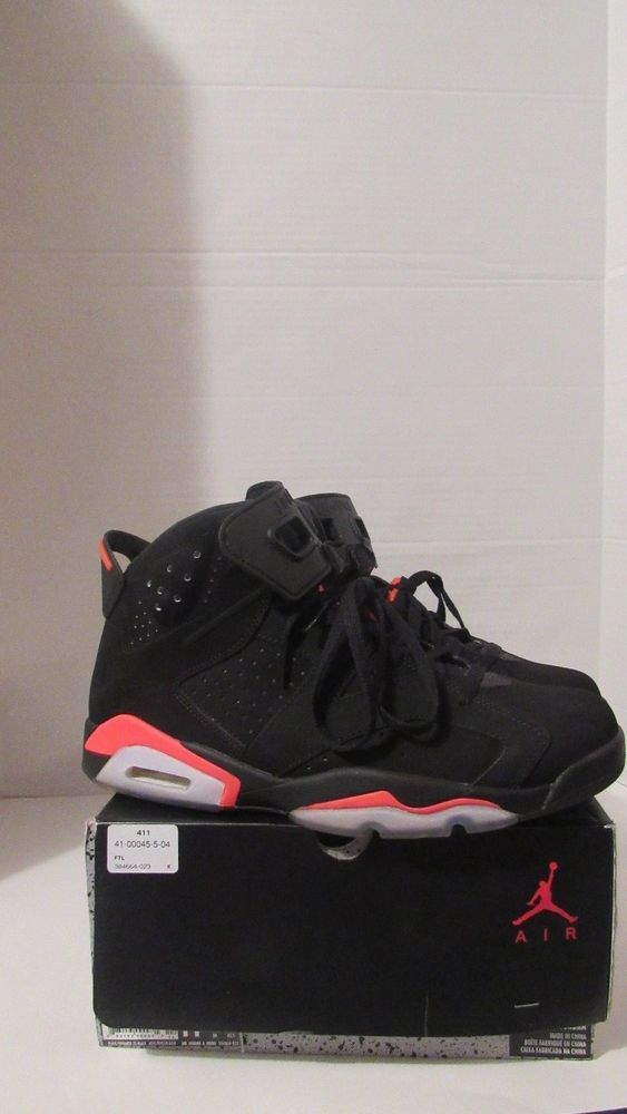 fd2af078c3f Nike Air Jordan Retro 6 Black Infrared 100% Authentic 11.5 (2014) - 384664- 023 #Nike #BasketballShoes