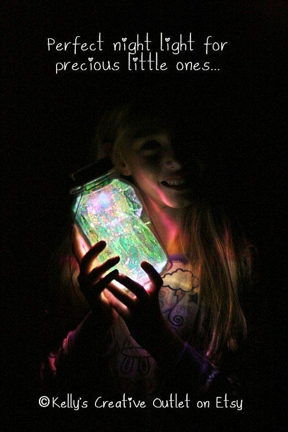 Mason Jar Solar Light Fairy Lantern by KellysCreativeOutlet