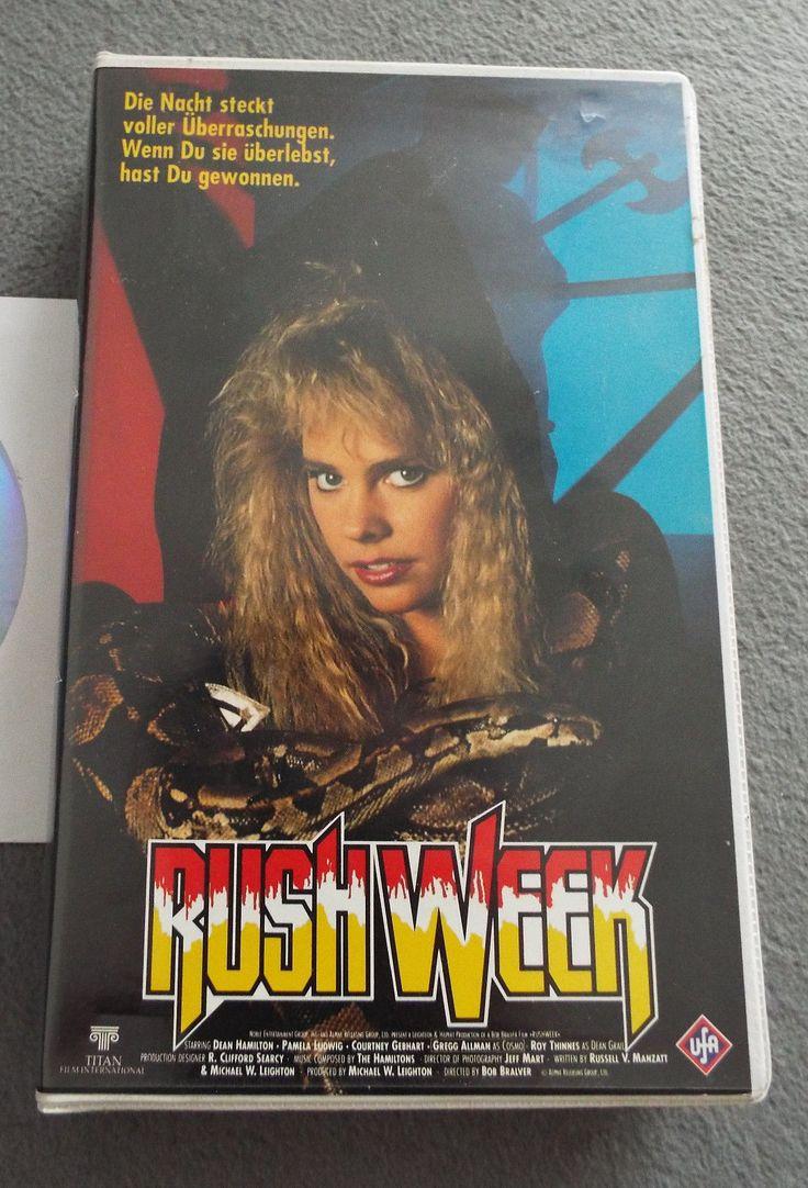 """RUSH WEEK"" (Titan Film International/Noble Entertainment Group), an early mumblecore, 1990, from those distributors of Hostage & LA Bounty, stars Pamela Ludwig (Pale Blood) and Gregg Allman (as Cosmo), Dist. in Germany (EU, PAL) by UFA ('91) #afbeeldingen #indie #arthouse #Ashlesha #jäähoki #Liiga #elokuvat #Helloween #erotisch #Melancholia #Nostalgie #arttheatre #EU27 #Brexit #kunst #Erasmus #Trier #veri #käärme #Jessicka #Addams #Doillon #Macron #PAL #VHS #NVPI #Nederlands #Puolanka…"