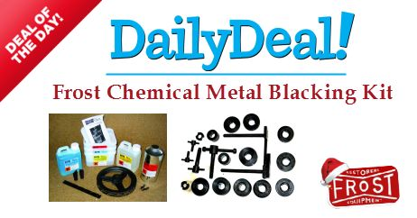 Deal of the Day: Frost Chemical Metal Blacking Kit. Simple, Quick and Cost Effective Way to Blacken and Protect Your Ordinary Metal! Buy Now with Special Price £34.80 only. http://www.frost.co.uk/metal-blacking-kit.html