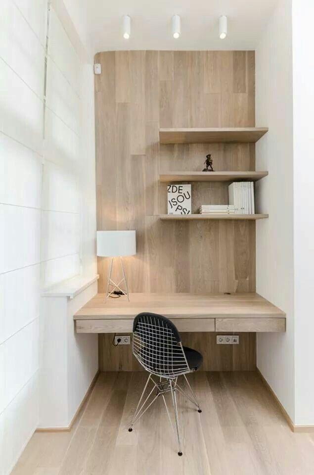 Escritorio de pared en madera