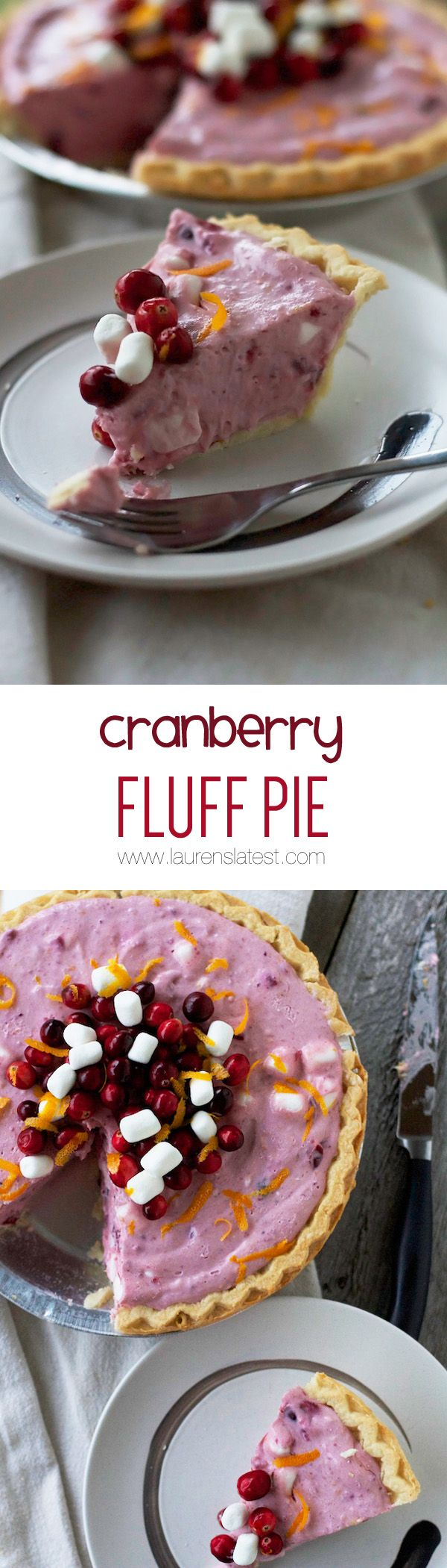 Friends: I give you the Cranberry Fluff Pie. It's another refrigerated, no-bake dessert that takes no time at all to throw together that taste like that jello salad but in pie form! #winning
