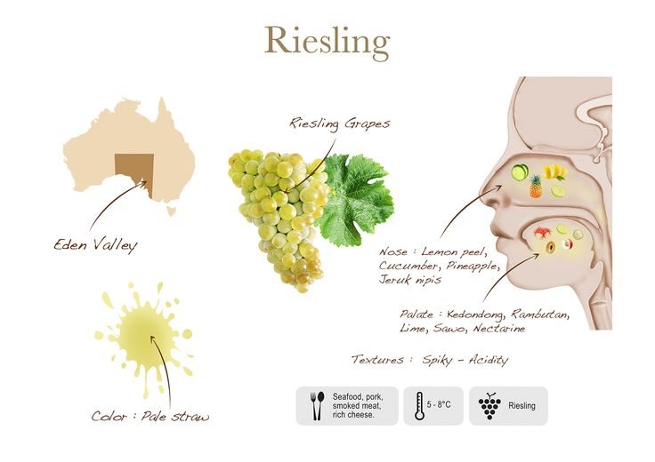 Riesling by Two Islands, visual presentation