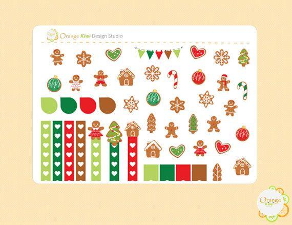Gingerbread Weekly Kit Sampler Stickers Gingerbread Cookie