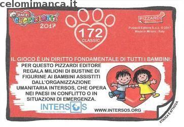 Amici Cucciolotti 2017: Retro Figurina n. 172 Lupo grigio