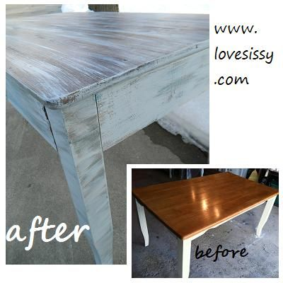 Painted distressed dining table house ideas pinterest - Painted dining tables distressed ...