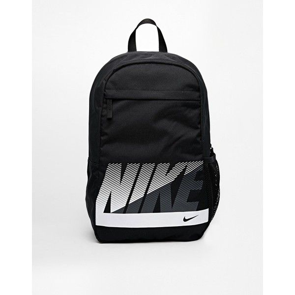 Nike Sand Backpack in Black ($25) ❤ liked on Polyvore featuring bags, backpacks, black, black rucksack, nike pouch, backpacks bags, nike bag and mesh backpack