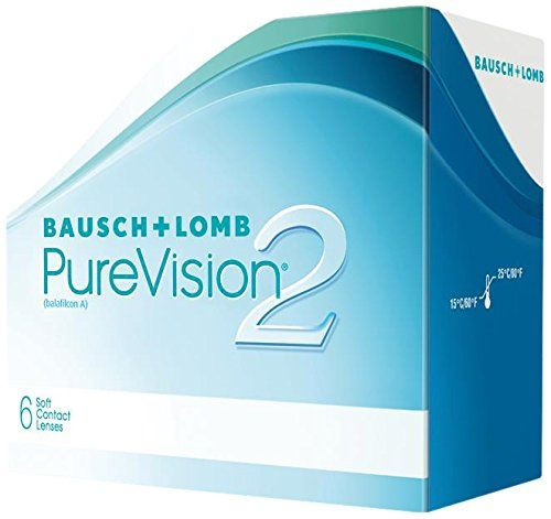 PureVision2 HD Monatslinsen weich, 6 Stck / BC 8.60 mm / DIA 14.00 mm / -02.00 Dioptrien