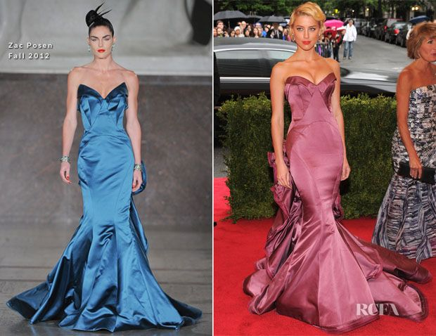 Zac Posen. Amber Heard is a constant knock-out.