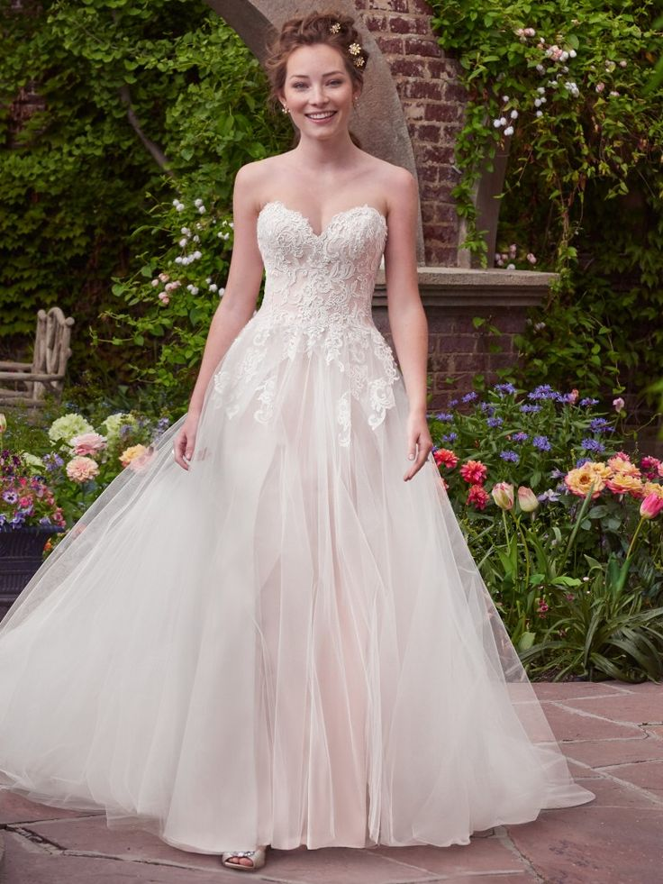 a-line wedding gown