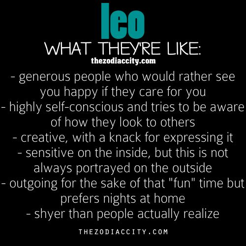 Zodiac Leo: What They're like