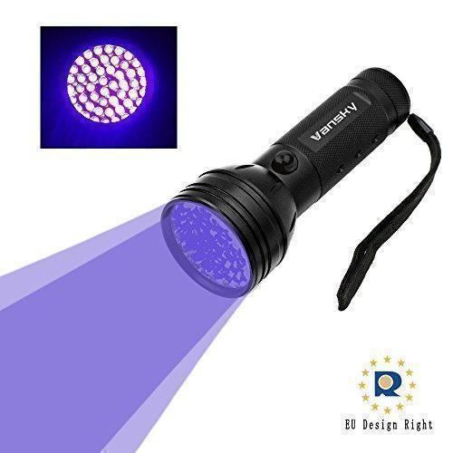 Oferta: 12.99€ Dto: -68%. Comprar Ofertas de Vansky® UV Lampara 51 LED linterna de luz negra para mascotas UV Detector de manchas de orina de perro / gato eliminador de m barato. ¡Mira las ofertas!