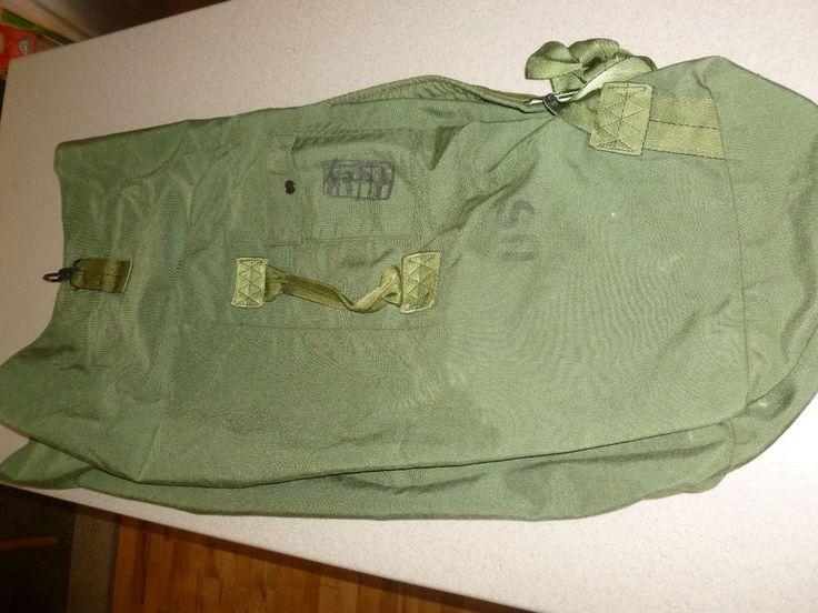 Vintage Military Canvas Duffle Bag / Ruck Sack US Army Surplus