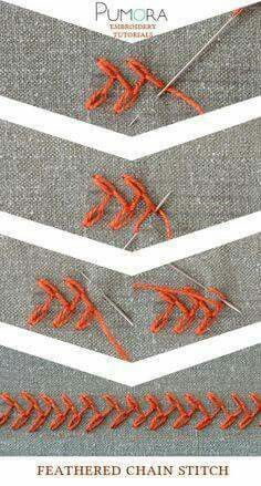 Feathered Chain Stitch - Stitch Book