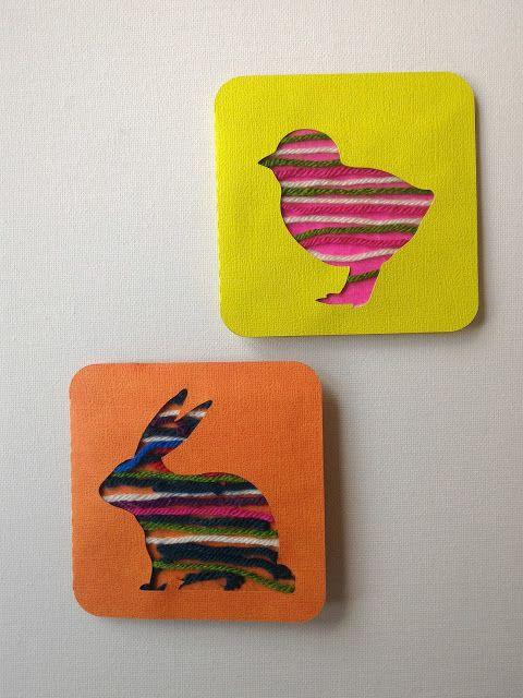 Chagaz'... et vous?: Activité enfant : Carte de Pâques en laine - #ProjetEnfantShark - Avril: thème fil - DIY Tuto