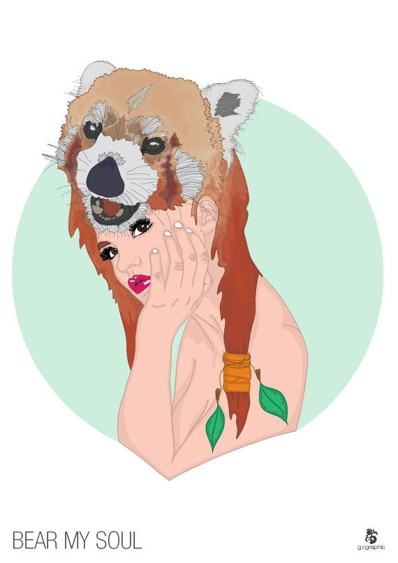 Bear My Soul Digital Print by grgraphic on Etsy