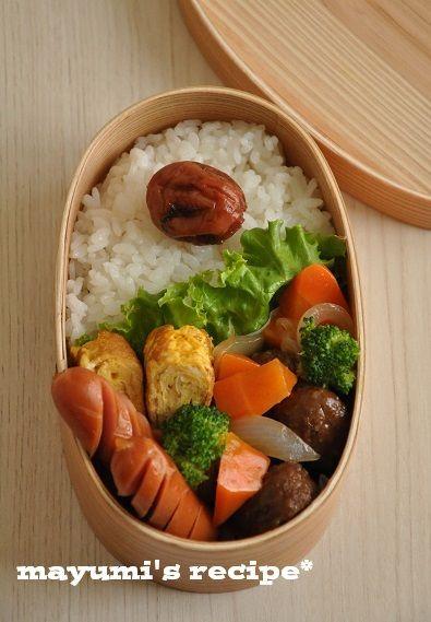 簡単!お弁当レシピ~みんなが食べたい♪簡単ミートボール弁当~ | 武田真由美オフィシャルブログ「真由美さんの1週間2500円節約レシピ」Powered by Ameba