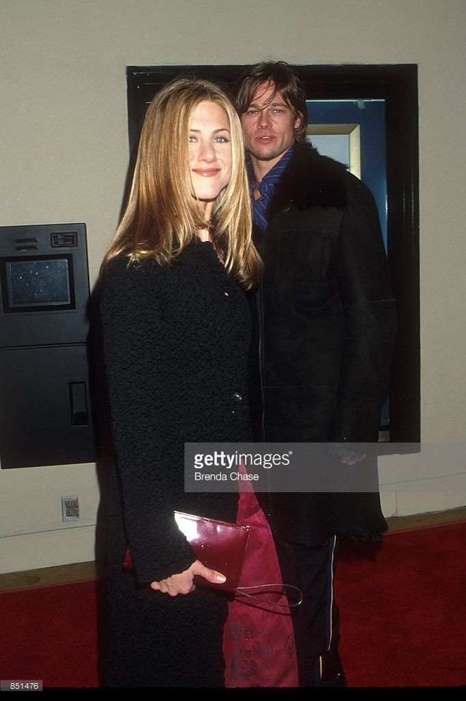 2/16/00. Westwood, CA. Jennifer Aniston & Brad Pitt attending the Los Angeles Premiere of the new movie 'Hanging Up'. Photo by Brenda Chase Online USA Inc.