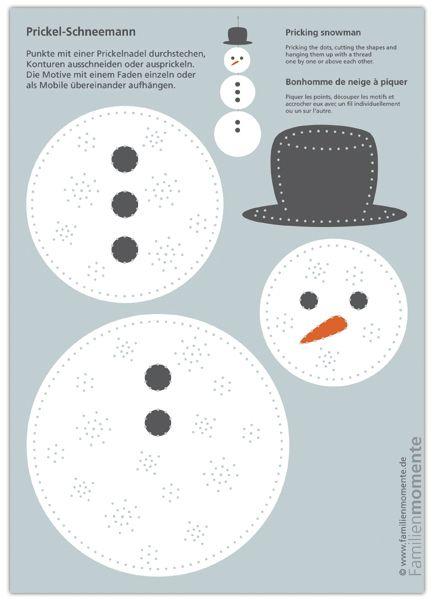 Prickel boneco de neve, arco de artesanato para formigar um boneco de neve móvel   – Basteln