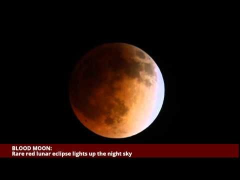 BLOOD MOON: Rare red lunar eclipse lights up the night sky