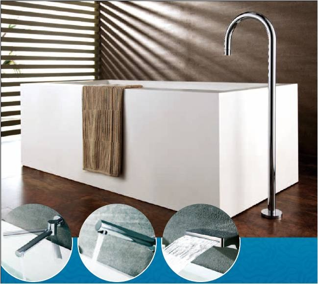 Designer bath spouts