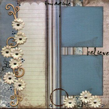 Monthly scrapbook kit club sample page layout. This kit featured papers and embellishments from Kaiser Craft Reminiscing line. For more information about our monthly scrapbook kit club, called the Kit Terrific Klub, visit www.capturedmomentsblog.com