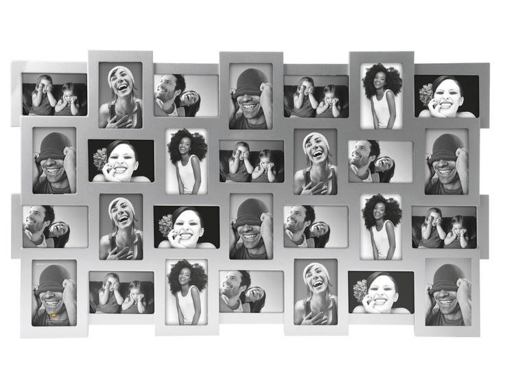 Fotolijst voor 28 foto's van 10x15cm.  (zilver grijs).  € 99,95