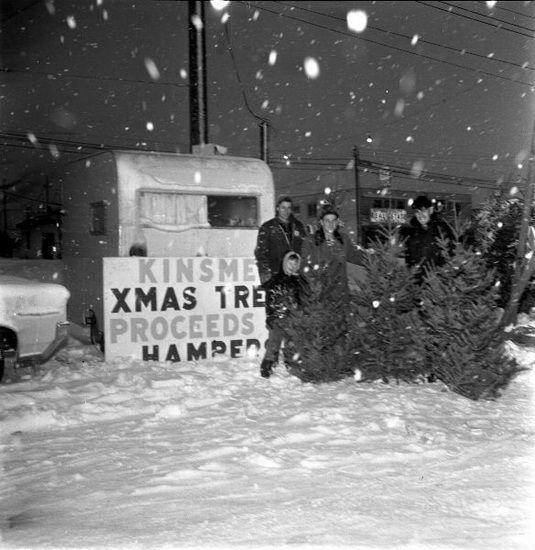 Kinsmen Christmas Tree Sale in Newton, Dec. 24, 1964. (Photo via Surrey Archives)