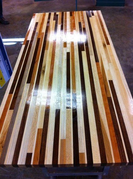 Scrap Wood Table Top   Ideas for the House   Pinterest ...