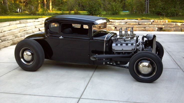 Ford model a black paintings street rods classic cars rats rods