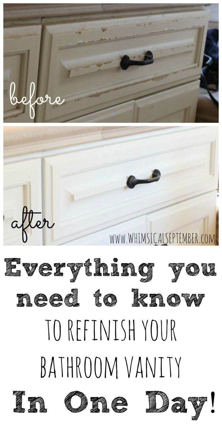 Everything you need to know to refinish your bathroom - How to refinish a bathroom vanity ...