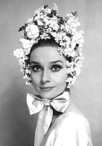 Audrey in an Easter bonnet