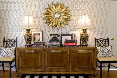 gold sunburst mirror home accent, Amber Interiors