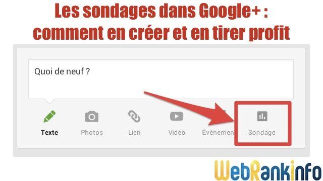 tuto : Comment créer un sondage sur Google+