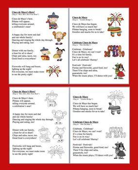 CINCO DE MAYO POEMS AND SONGS - SHARED READING AND FLUENCY - TeachersPayTeachers.com