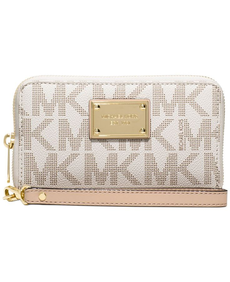 Michael Michael Kors Jet Set Item Large Flat Multifunction Phone Case