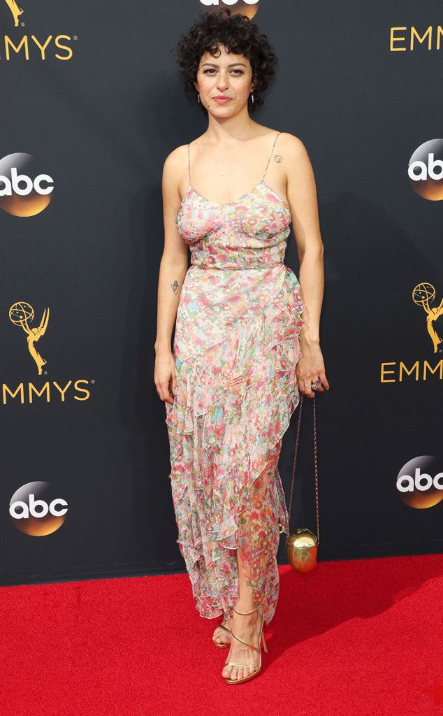 Alia Shawkat from 2016 Emmys Red Carpet Arrivals