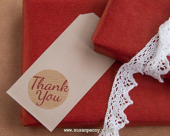 Thank You Kraft Brown Sticker 40mm 1 1/2in by susanpennyhandmade