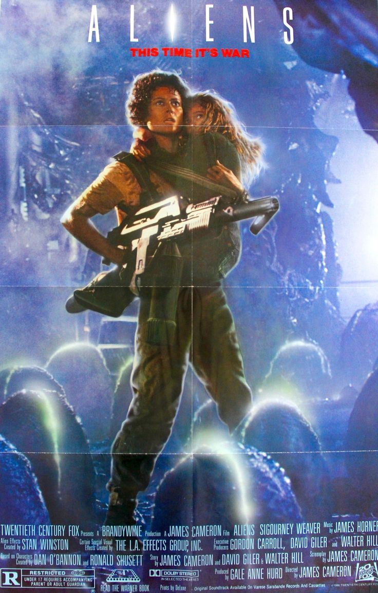 """Film: Aliens (1986) Year poster printed: 1986 Country: USA Size: 27""""x 41"""" This is a rare, original, recalled one-sheet movie poster (27"""" x 41"""") from 1986 for Aliens starring Sigourney Weaver, Bill Pax"""