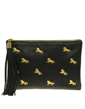 ASOS multi zip horse clutch: Asos Multi, Horse Clutch, Handbags Purses, Horses, Zip Horse, Clutches, Things, Multi Zip, Purses Handbags