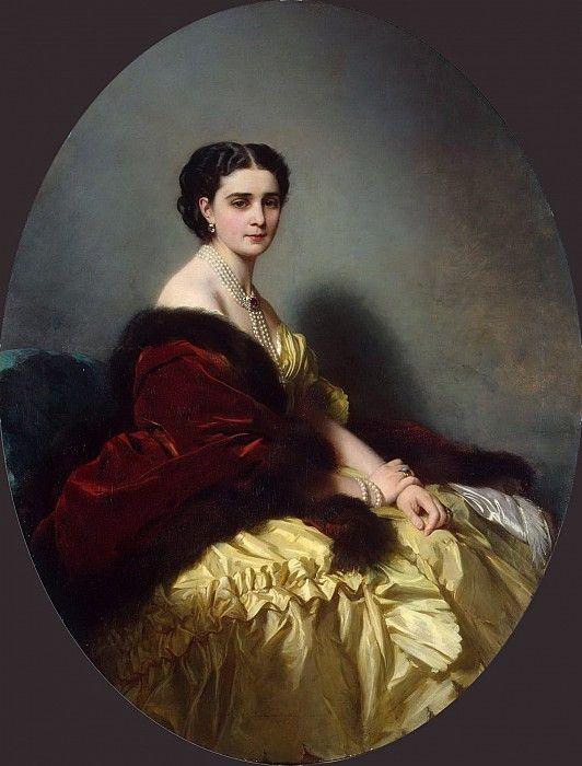 София Петровна Нарышкина.   Франц Ксавьер Винтерхальтер (1805-1873)