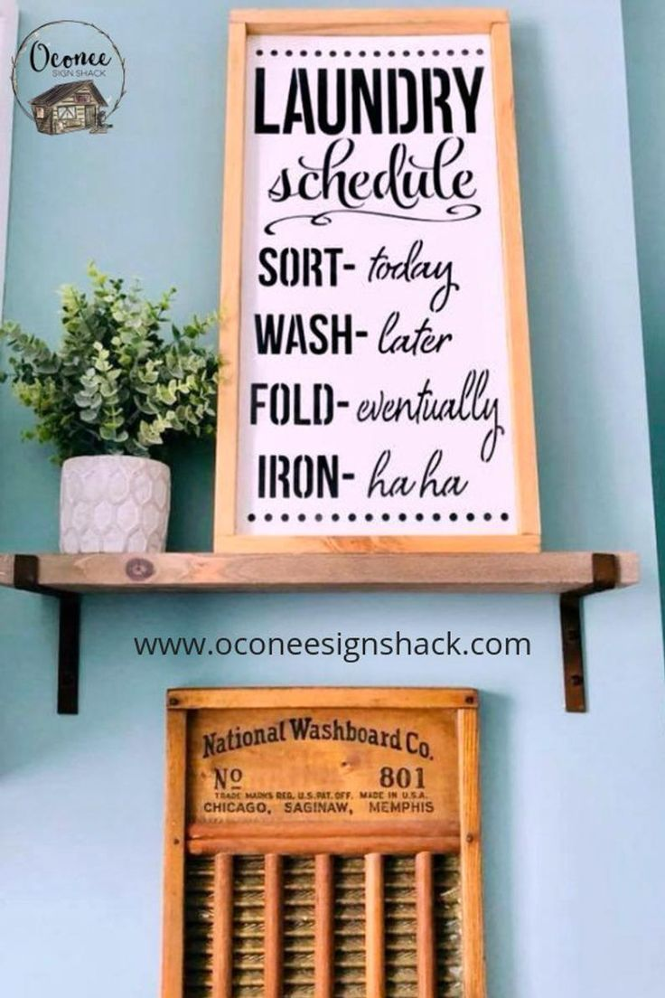 Laundry Schedule Laundry Room Sign Funny Laundry Sign Laundry
