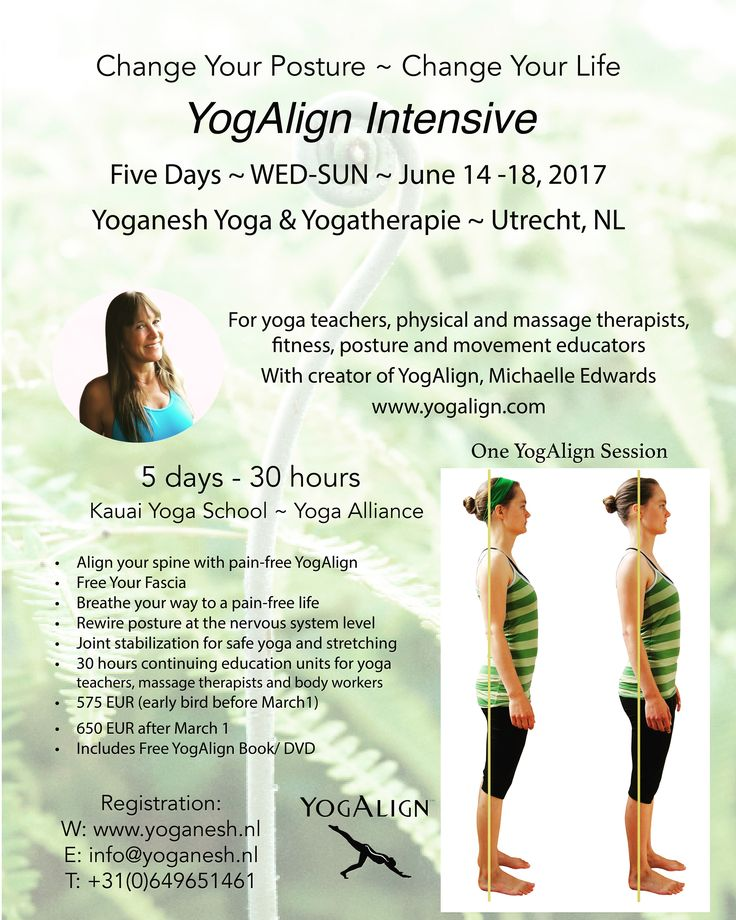 YogAlign Intensive in Utrecht - few spots open!