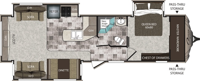 Travel trailer floor plan that I LOVE!