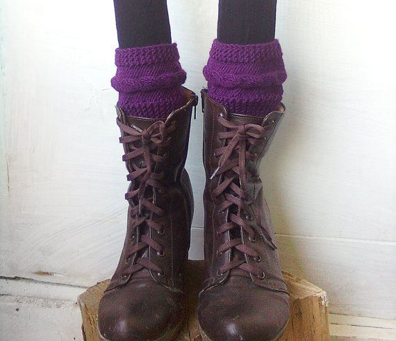Cable knit boot cuff Knit boot cuff Boho boot cuff by GuruMIme