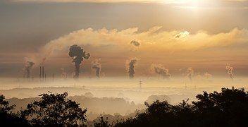 Industria, Sunrise, Nubes, Niebla