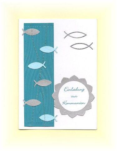 Einladungskarte Einladung Kommunion Konfirmation   Die Einladungskarte Im  Format DIN Gibt Es In 6 Farbvarianten Jeweils Kombiniert Mit Silber, Was  Die Karte ...
