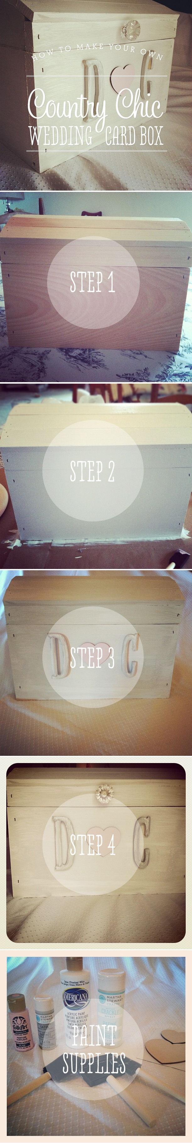 DIY:  Wedding Card Box // love this, something for all the little wedding knick knacks that you don't want to throw away - garter, cake cutter, cake topper, etc.